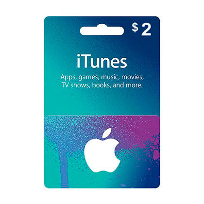 iTunes Gift Card $2, US